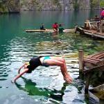 Back flip into Lake Kayangen