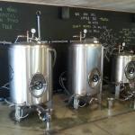 Piestansky pivovar - beer tanks