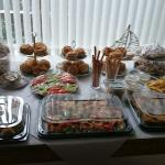 Just some of the food, my table wasn't big enough!