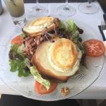 Salade chèvre chaud lardons ....