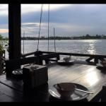 Cosy riverside seating and tasty thai food