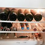 Wine stocked room fridge