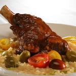 Beef shortrib over risotto by Chef James Gavin
