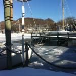 The dock in winter