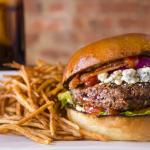 Blue Cheese Bacon Burger with Shoestring Fries