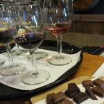 Tasting with chocolate