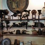 Old Machinery on Display - Notice Ladies' Shoes to the Right
