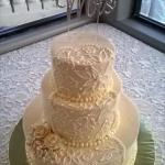 My wedding cake looked amazing and was so delicious!!