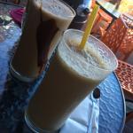 Iced coffee and chocolate
