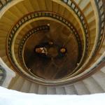 Nós na escadaria do Museu do povo Galego
