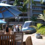 ホテル敷地内の列車(トリム?)もあり、とにかく広い