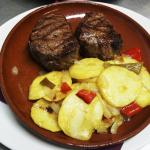 Solomillo Argentino con patatas a lo pobre
