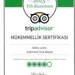 Justiniano Club Alanya 4* получил «Сертификат качества» от TripAdvisor - за соответствие высоким