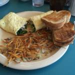 BEST OMELET EVER-Spinach & Swiss & Avocado & Onions