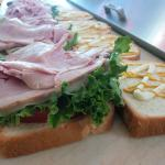 A Classic Ham & Cheese served on a dlicious Sassy bread!