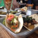 Kale/mushroom/mole tacos! Oh moi Dio!