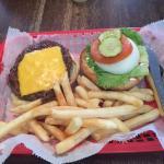 O'Shucks cheese burger