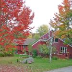 Autumn is beautiful at the White Horse Inn in Vermont's mountains.