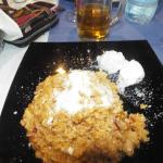 Chicken risotto and greek yoghurt