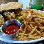 Po'Boy with crispy oysters (and fries)