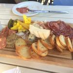 Assorted cheese and meat sampler