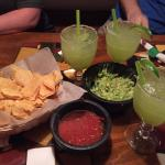 Delicious Guac and Chips... and Margaritas!