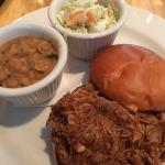BBQ Pulled Pork with beans & slaw- fabulous!