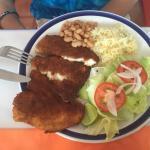 Arrachera Steak Burrito and Pescado del Dia...ample portions prepared wonderfully.