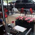 View of outdoor seating