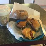 The bagels, croissant and employees were all fabulous! Very decent coffee too, and affordable. D