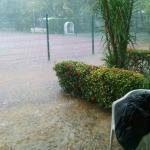 Para salir de la habitación de inmediato ya estaba inundado