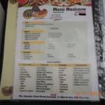 El Cuante, Cusco, Peru - menu