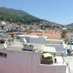 Panoramic of the town from the roof, including what will be the new Promenade