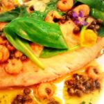 Roasted Sole With Brown Shrimp & Caper Burr Noisette