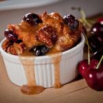 Cherry Bourbon Bread Pudding