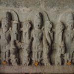 Sculpture of Bramha, Vishnu and Mahesh in Ram Janki temple