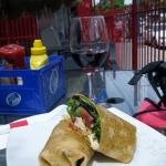 Chicken thai wrap was asked if I wanted a side to go with it. My reply no. wrap large enough it'