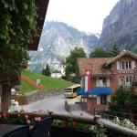 Grindelwald - Golden India - view from my place to the rocky mountains