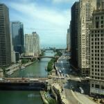 View of Chicago River from Workout area