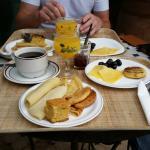 Exemple de petit déjeuner réalisé à partir du buffet