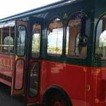 The Bus/Trolley -wood seats