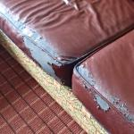 World's Ugliest Falling Apart Couch