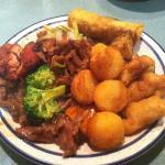 Nice plate of fresh food at the Mandarin House