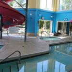 Super8 pool area from slide pool