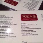 Foto de Rea's Italian Cucina