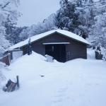 冬の大峯山寺への道
