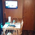 Dining Area with flat screen TV