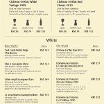 Wine List - White
