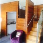 The double bed deck-so cosy and beautiful walnut and glass design