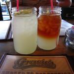 Lemonade and Arnold Palmer in 1500ml Mason jars, $2.50 each